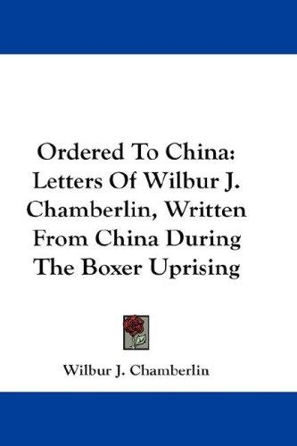 Ordered To China