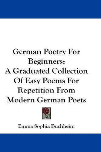 German Poetry For Beginners