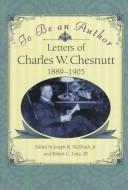 To be an author by Charles Waddell Chesnutt