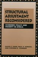 Structural adjustment reconsidered by David E. Sahn