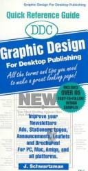 DDC graphic design for desktop publishing by J. Schwartzman