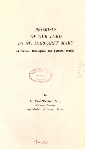 The Promises of Our Lord to St. Margaret Mary by