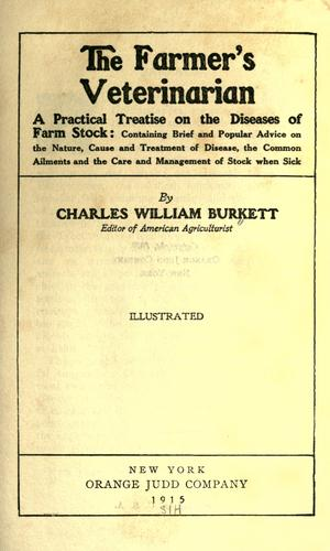The farmer's veterinarian by Burkett, Charles William