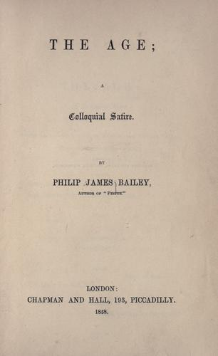 The age by Philip James Bailey