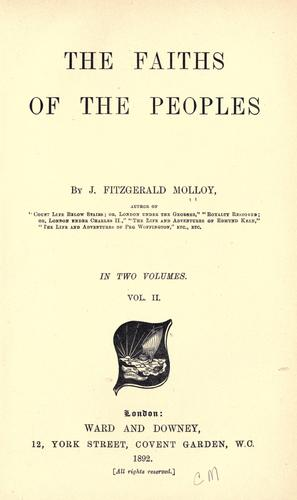 The faiths of the peoples by Molloy, J. Fitzgerald