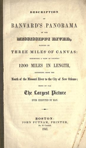 Description of Banvard's panorama of the Mississippi river by John Banvard