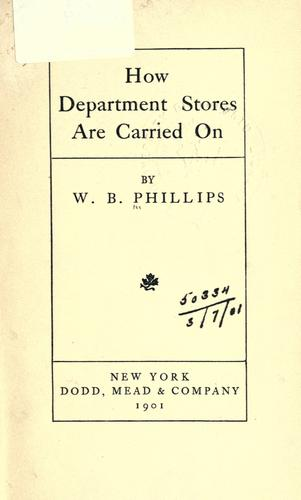 How department stores are carried on.