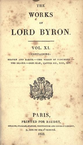 The works of Lord Byron by Lord George Gordon Byron