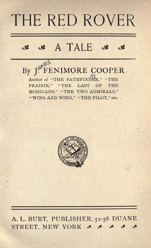 The red rover by James Fenimore Cooper