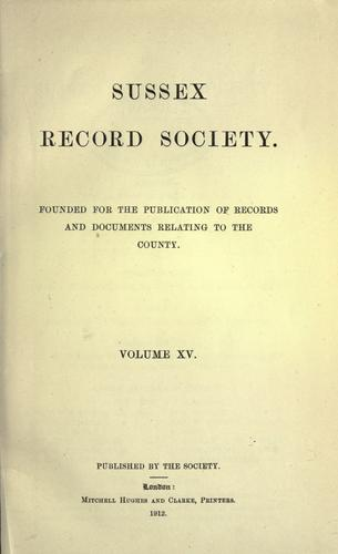 The parish registers of Bolney, Sussex. 1541-1812. by Bolney, Eng. (Parish)