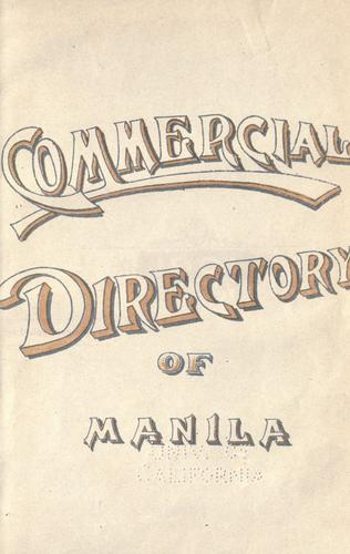 Commercial directory of Manila. by