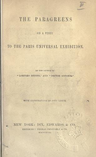 The Paragreens on a visit to the Paris universal exhibition by Giovanni Domenico Ruffini