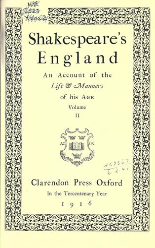 Shakespeare's England by
