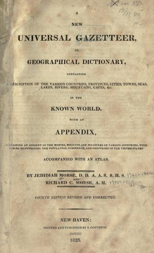 A new universal gazetteer by Jedidiah Morse