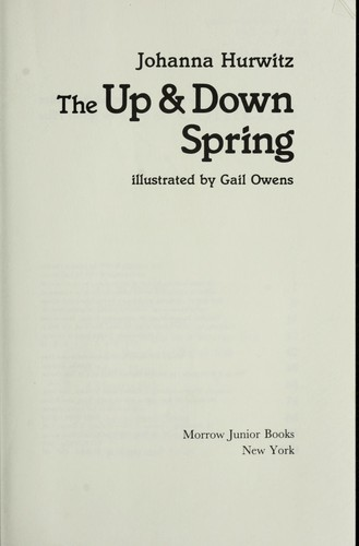 The up & down spring by Johanna Hurwitz