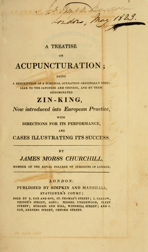 A treatise on acupuncturation by James Morss Churchill