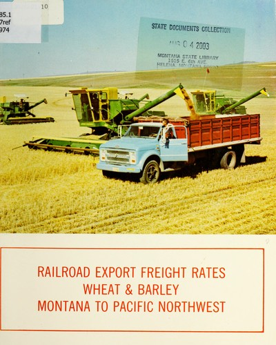 Railroad export freight rates by Montana Wheat Research and Marketing Committee.