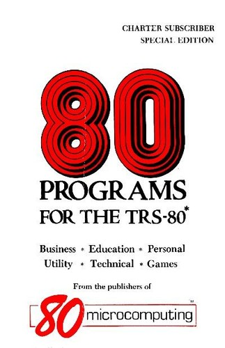 80 Programs for the TRS-80 (Special Edition) by Jim Perry, Chris Brown
