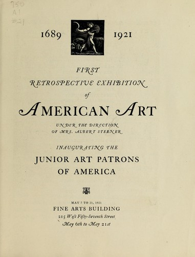 1689-1921 by Art Patrons of America, inc