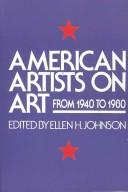 American artists on art from 1940 to 1980 by