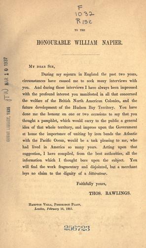 The confederation of the British North American provinces