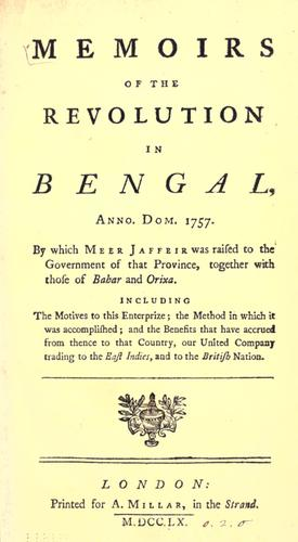 Memoirs of the revolution in Bengal by Campbell, John