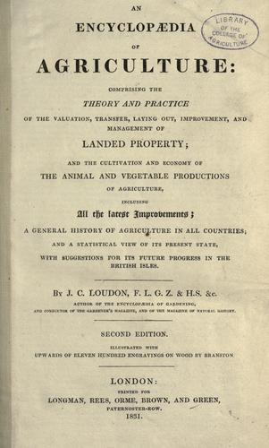 An encyclopædia of agriculture