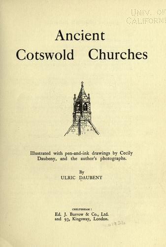 Ancient Cotswold churches.