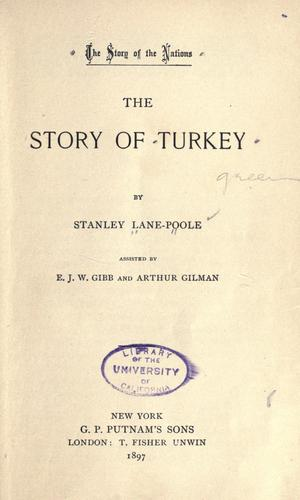 The story of Turkey by Stanley Lane-Poole