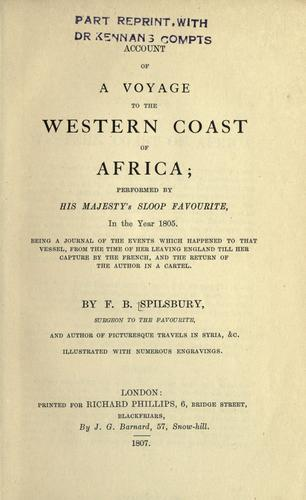 Account of a voyage to the western coast of Africa