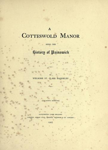 Cotteswold manor
