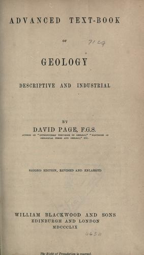 Advanced text-book of geology by Page, David
