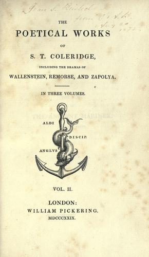 The poetical works of S.T. Coleridge by Samuel Taylor Coleridge