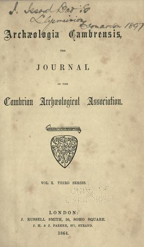 Brut y tywysogion: the Gwentian chronicle of Caradoc of Llancarvan. by With a translation by ... Aneurin Owen ... Printed for the Cambrian Archæological Association.