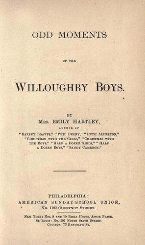 Odd moments of the Willoughby boys by Emily Hartley