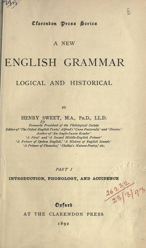 A new English grammar, logical and historical.