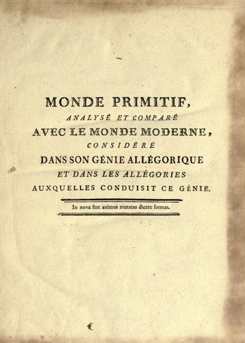 Monde primitif