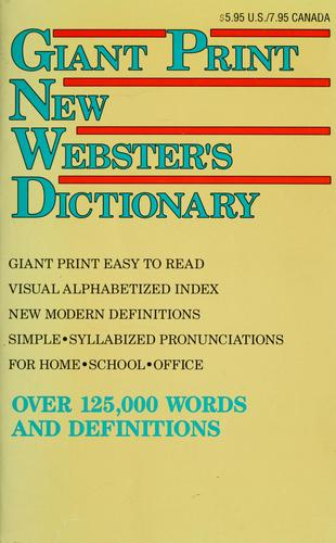 Giant print new Webster's dictionary by Patterson, R. F.
