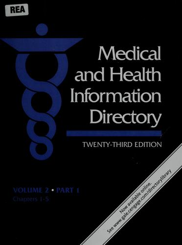 Medical and health information directory by Anthony Thomas Kruzas
