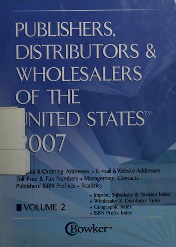 Publishers, distributors & wholesalers of the United States, 2007 by