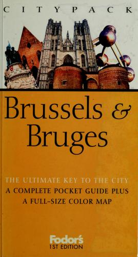 Citypack Brussels & Bruges by Anthony Sattin