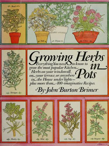 Growing herbs in pots by John Burton Brimer