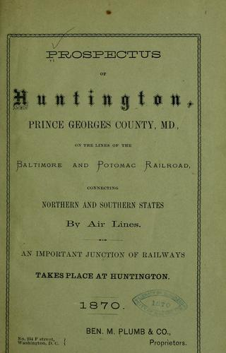 Prospectus of Huntington by Joseph Meredith Toner Collection (Library of Congress)