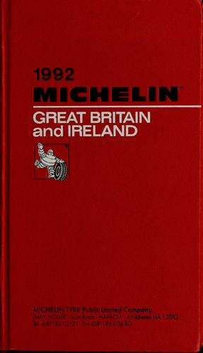 Great Britain and Ireland by Manufacture française des pneumatiques Michelin