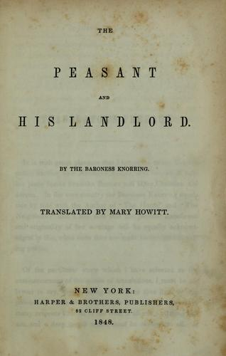 The peasant and his landlord by Sofia Margareta Zelow Friherrina von Knorring