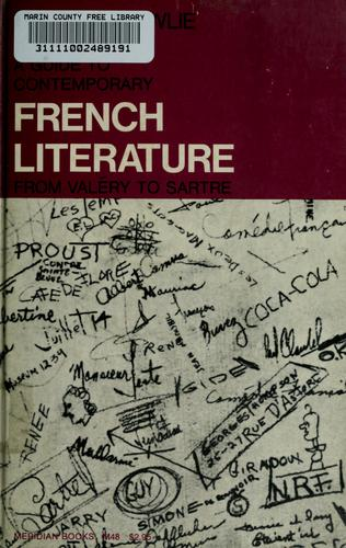 A guide to contemporary French literature by Wallace Fowlie