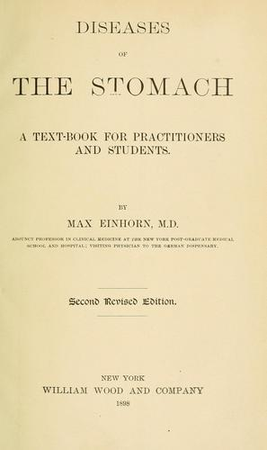 Diseases of the stomach by Einhorn, Max
