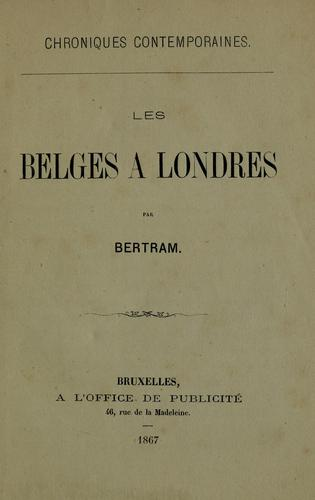 Les belges à Londres by