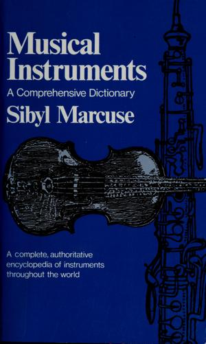 Musical instruments by Sibyl Marcuse