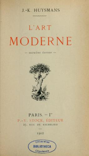 L'art moderne by Joris-Karl Huysmans
